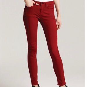 Rag and Bone Skinny Zipper Mid-Rise Jean 30